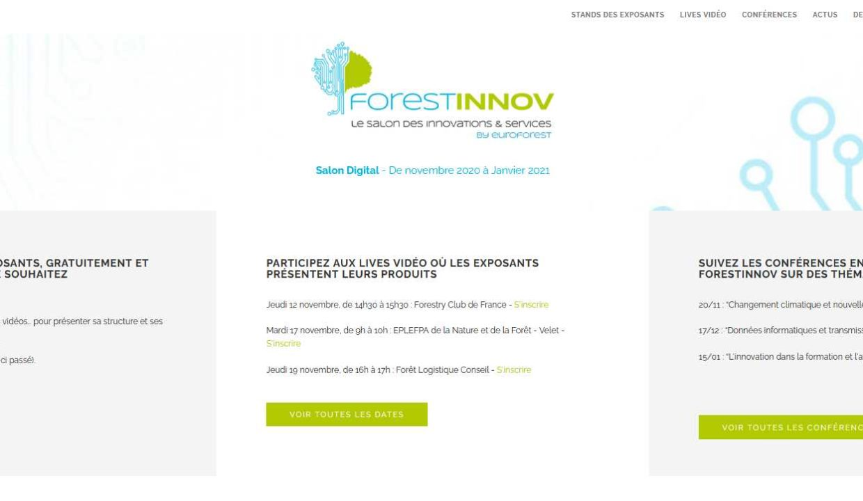 Forestinnov Salon des Innovations et des Sevices - Site